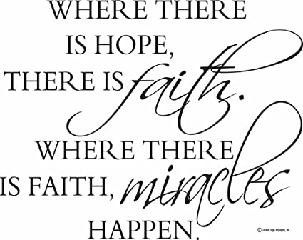 Inspirational Wall Decals Bible Verse Wall Decals Where There Is Hope There  Is Faith