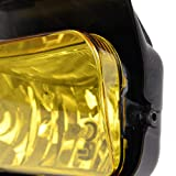 Fog Lights Front Bumper Lamps + Bulbs For 2003-2006 Chevy Silverado Avalanche Driving Bumper Light Replacement Yellow Lens One Pair