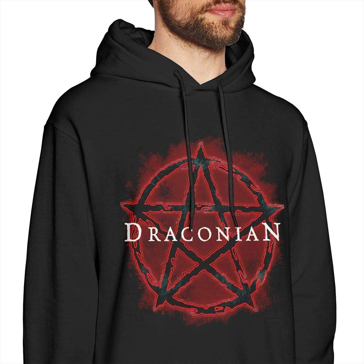 COURTNEY FRANCIS Draconian Cool Mens Long Sleeve Sweatshirts Mens Hoodies Black