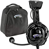 Rugged Air RA900 General Aviation Pilot Headset Includes Headset Bag, Gel Ear Seals and Cloth Ear Covers