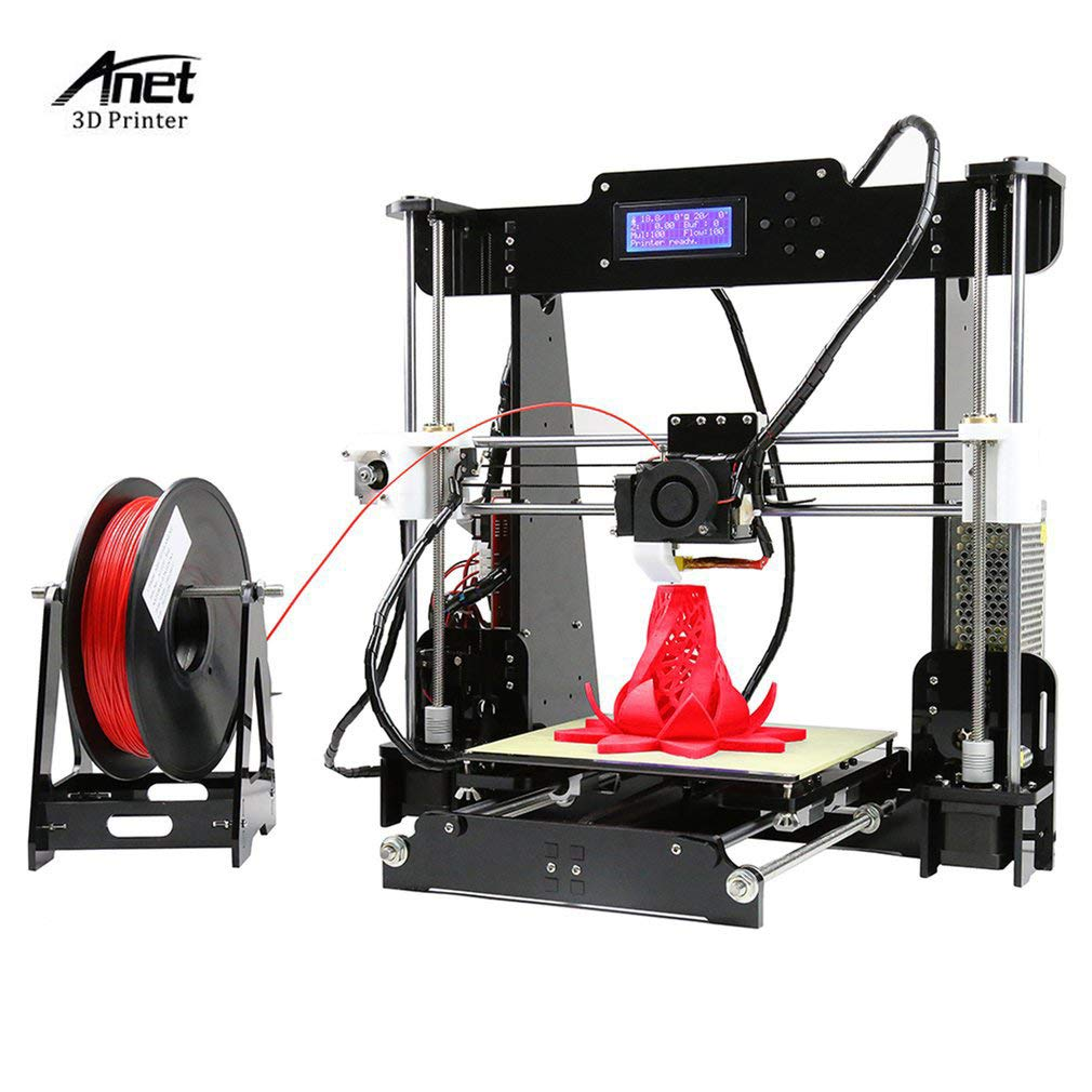 ANET A8 3D Drucker DIY Printer Desktop Farbdruck Printer Acryl LCD Bildschirm Kit Drucken Materialien Druckraum 3D Drucker Printer ABS/PLA