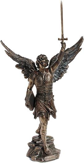 16.5 Inch Archangel – Saint Raguel Cold Cast Bronze Figurine