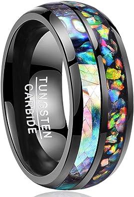 anello opale nero uomo