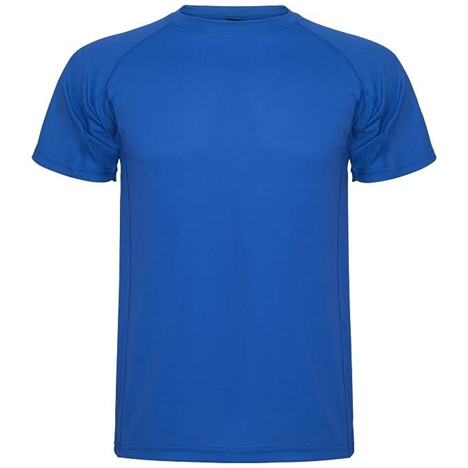 Roly Camiseta técnica para Hombre Montecarlo, Azul: Amazon.es: Ropa y accesorios