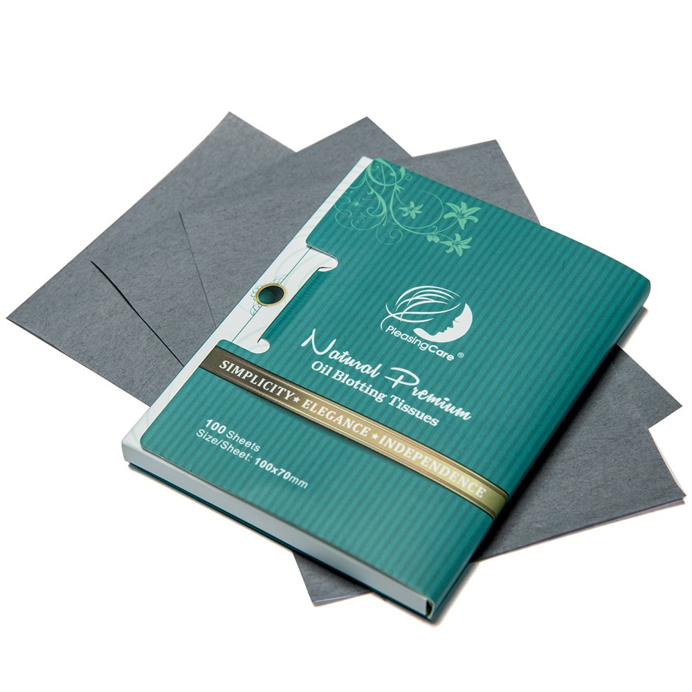 Premium Facial Oil Blotting Paper, 200 Counts - Natural Bamboo Charcoal Face Blotting Sheets, Easy Take Out Design - Top Handy Oil Absorbing Tissues - Oily Skin Care or Make Up Must Have! by PleasingCare (Image #4)