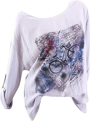 Camisetas Feministas Mujer Ronamick Cortas Manga Blusa Body Mujer Tops Encaje Cortas Manga Camisa Victoriana Mujer (gris,XXXXXL): Amazon.es: Iluminación