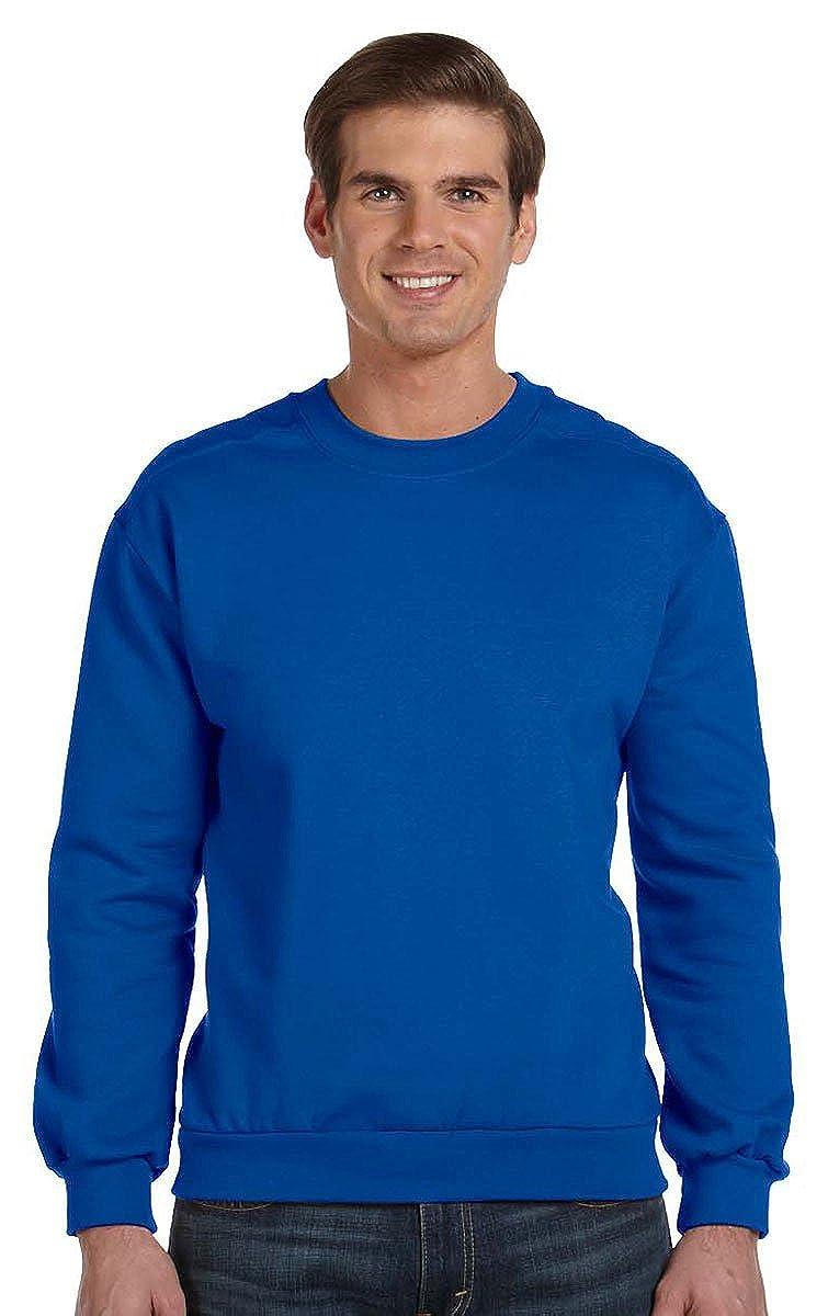 ROYAL BLUE Anvil Adult Combed Ringspun Fleece Crew Neck Sweatshirt