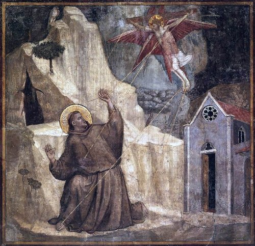 Giotto Di Bondone Scenes from the Life of Saint Francis: 1. Stigmatisation of Saint Francis (Bardi Chapel, Santa Croce, Florence) - 20.05