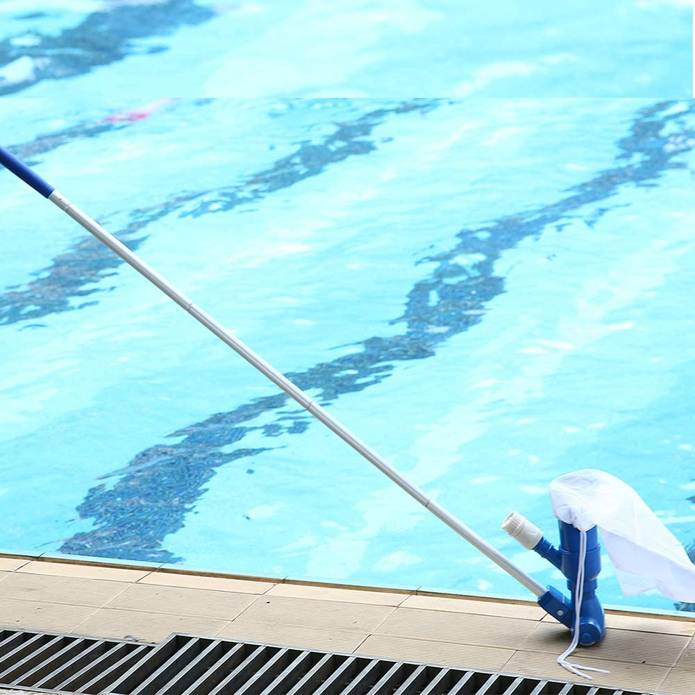 Limpiador subacu/ático de piscina Equipo de limpieza con red de alberca bolsa de almacenamiento para cabezal de succi/ón Aspiradora de chorro Kit de mantenimiento de piscina Xinchangda