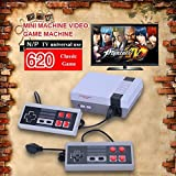 Classic Family Video Console NEW Console 620 Retro Games Built-in With 2 Controllers (AV Out Cable) Children Gift Birthday Gift Xmas Gift