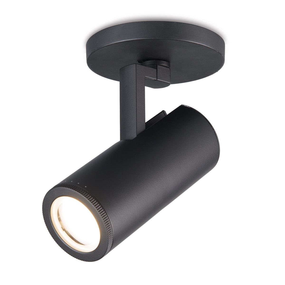 WAC Lighting MO-4023-830-BK 4023 Adjustable Paloma LED Monopoint in Black Finish, 3000K