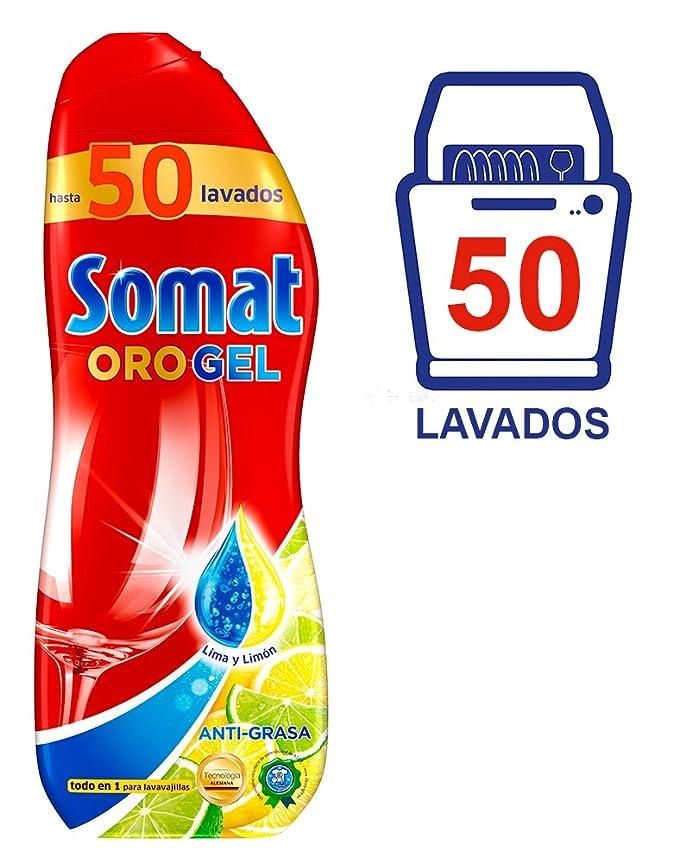 Somat Oro Gel Lavavajillas Limón 50 Dosis: Amazon.es: Salud y ...