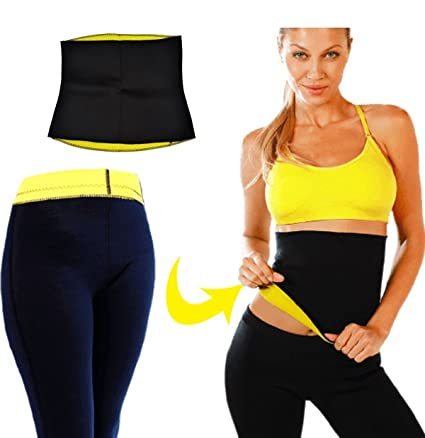 c4927f29d3 Buy Ample Wings Unisex Combo Hot Shaper Pants and Hot Shaper Slimming Belt  for Women   Man Online at Low Prices in India - Amazon.in