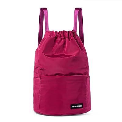 Lightweight Waterproof Backpack Nylon Rucksack Gym Sackpack Outdoor Daypack for School Camping Travel Hiking Trekking (Rose)