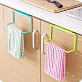 Towel Holder ,Elevin(TM) Towel Rack Hanging Holder Organizer Bathroom Kitchen Cabinet Cupboard Hanger (White)