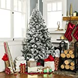Best Choice Products 6ft Pre-Lit Snow Flocked