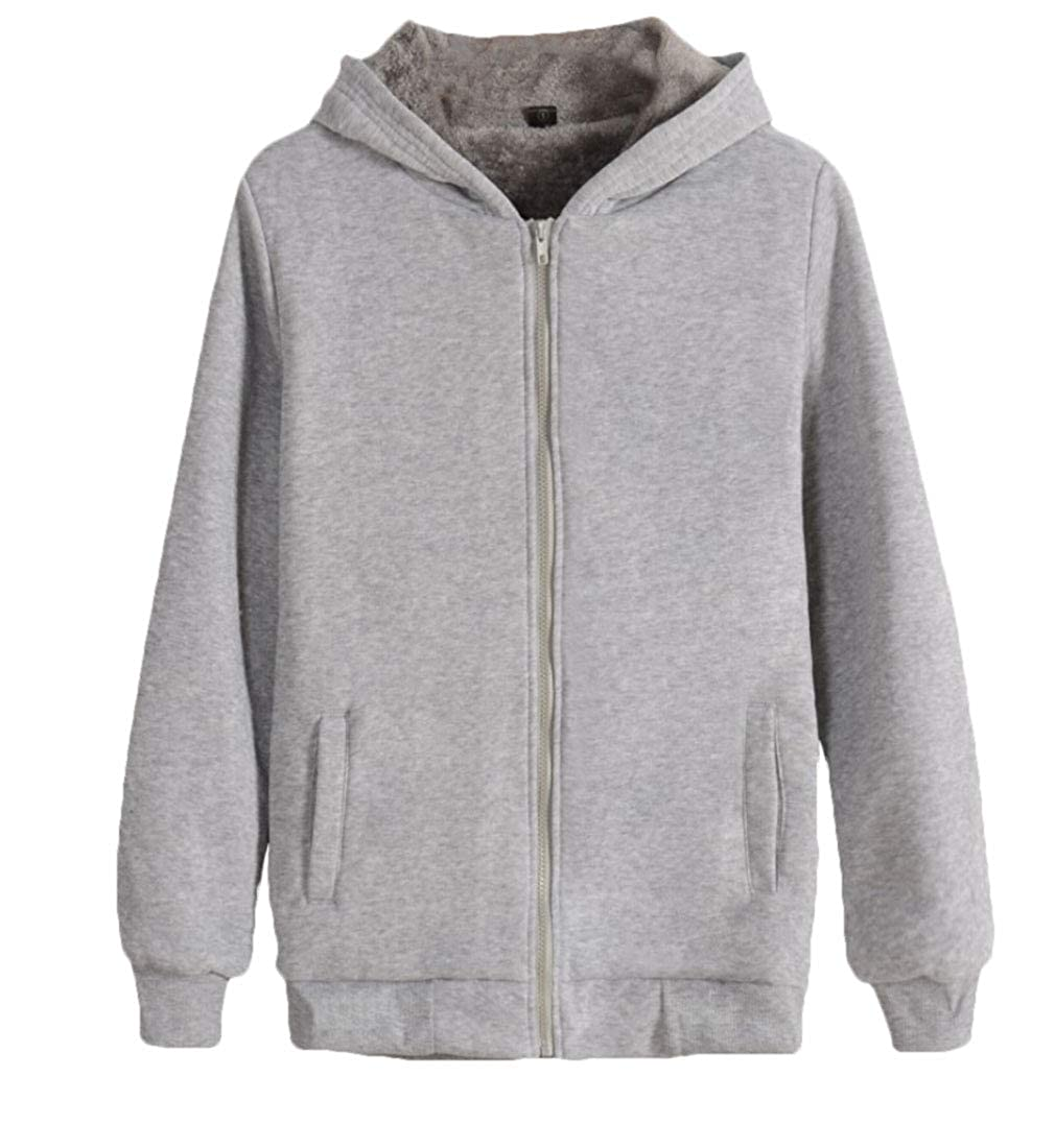 Gocgt Mens Fleece Warm Thicken Coats Coat Hoodies Winter Coat