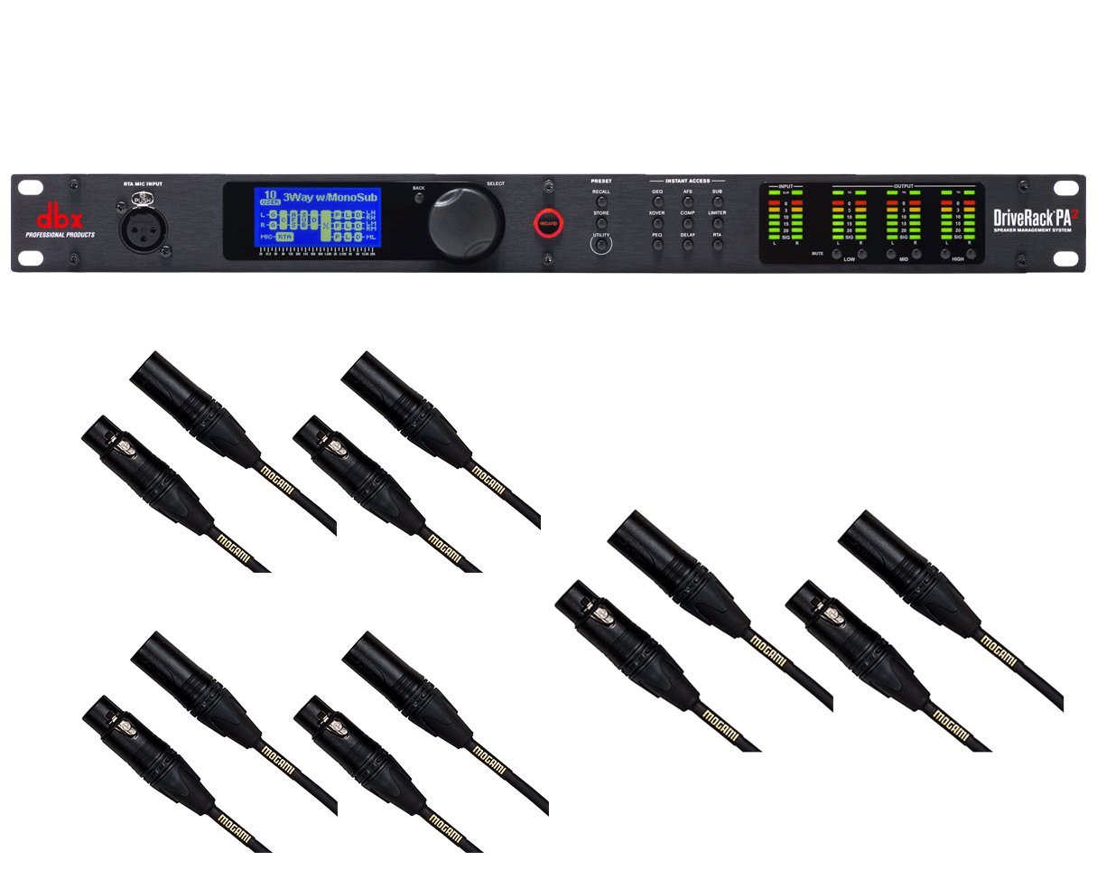 dbx DriveRack PA2 + 6x Mogami 20' Cables