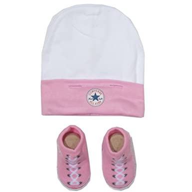 7bb1d1f045919b Amazon.com  Converse Baby Matching Beanie Hat and Booties Set (0-6 ...