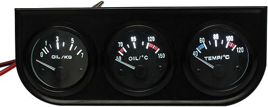 Auto Anzeiger Set Sodial R 3 Auto Zeiger Anzeige Set Oeltemperatur Wassertemperatur Oeldruck 2 52mm Led Licht Auto