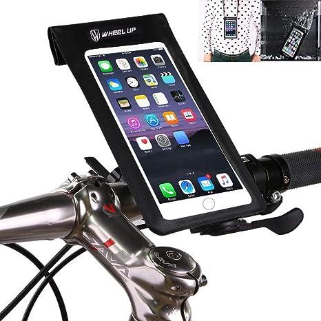 Soporte Bolsa Movil Bicicleta, Bolsa Bicicleta Impermeable, Funda Móvil Soporte de Bici Manillar para Ciclista Ciclismo con Pantalla táctil, Impermeable para Móvil Inferior de 6.0 Inches: Amazon.es: Deportes y aire libre