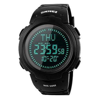 BOZLUN Digital Armbanduhr mit Kompass Military Sport Style LED Hintergrundbeleuchtung