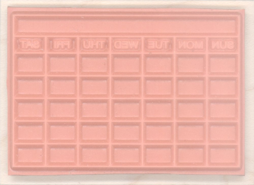 Stamps by Impression ST 1299 Large Bullet Journal 5 Row Calendar Rubber Stamp 2/½ x 3 Block