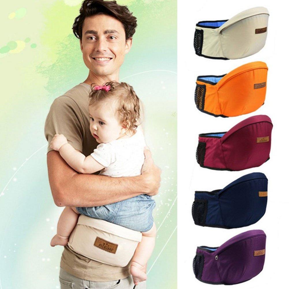 Azul Taburete de cintura Portabeb/és Hipseat port/átil Ergon/ómico Respirable Sling ajustable Multifuncional Cintur/ón infantil Mochila Toddler Front Holder
