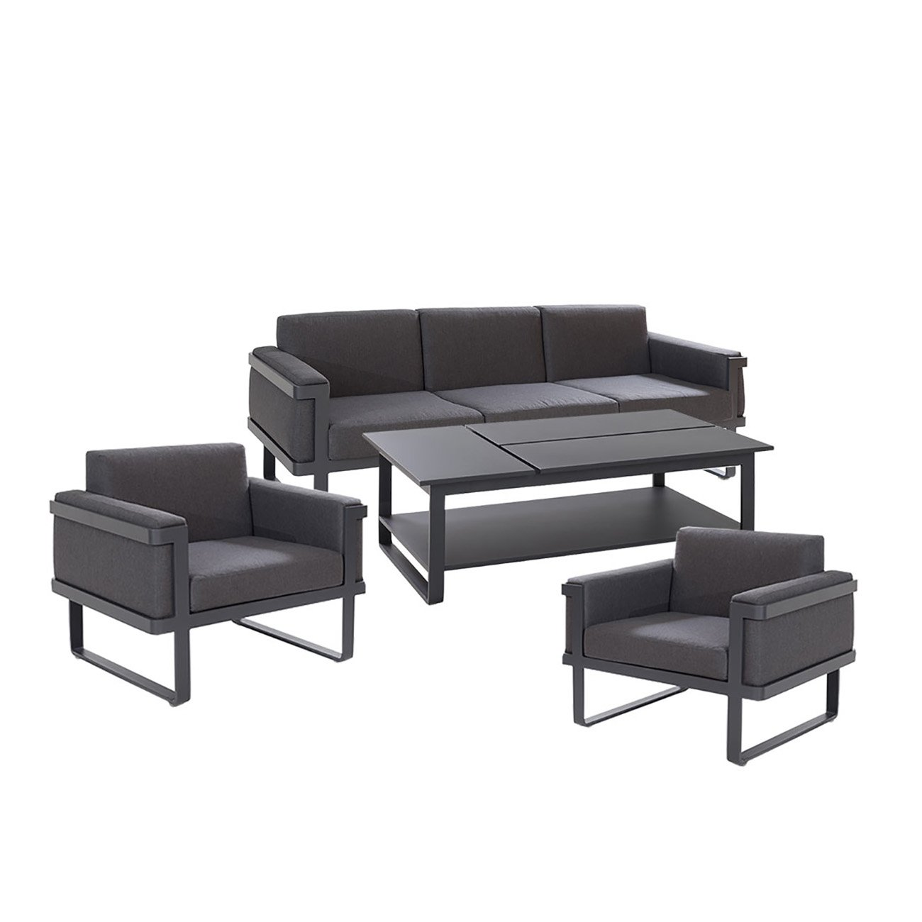 exklusive gartenm bel outliv triest loungem bel outdoor polyrattan gartenlounge loungegruppe. Black Bedroom Furniture Sets. Home Design Ideas