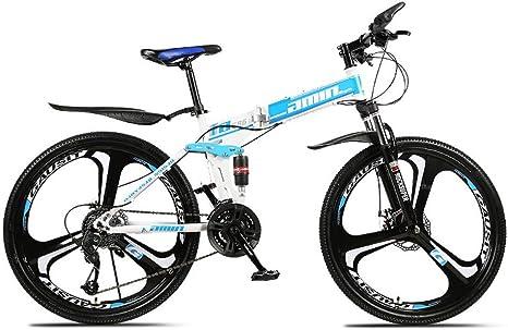 ZJPQ Montaña Plegable Bicicleta,21/24/27/30 Cambiando Bicicleta ...