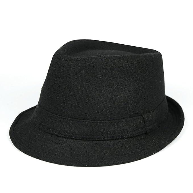 46c9a1cf4b12c Bombines No Jazz Sombreros Pequeños Sombrero De Caballero Furry No  Viewer-Negro