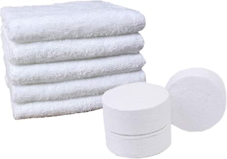 Set of 20 Pieces Portable Non-woven Compress Travel Towels Facial Washcloth