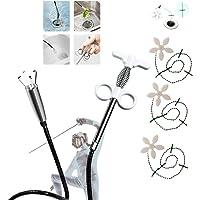 4 Pcs Flexible Drain Snake Clog, Recogedor De Cuatro Garras, Socorro De Drenaje De Metal Precisión Herramienta De…