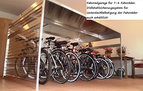 Fahrradgarage Sinomak Bikeports Fur 4 5 Fahrrader Amazon De Garten