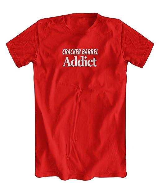 Amazon Com Cracker Barrel Addict T Shirt Men S Cracker Barrel