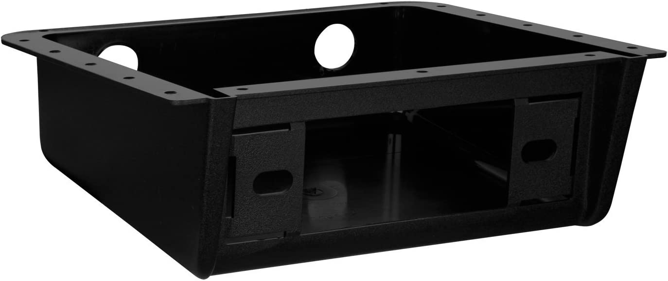 Enrock EBUDK00 Universal Car Stereo Fully Enclosed Under Dash//Overhead Installation Mounting Kit for DIN Radio Receiver