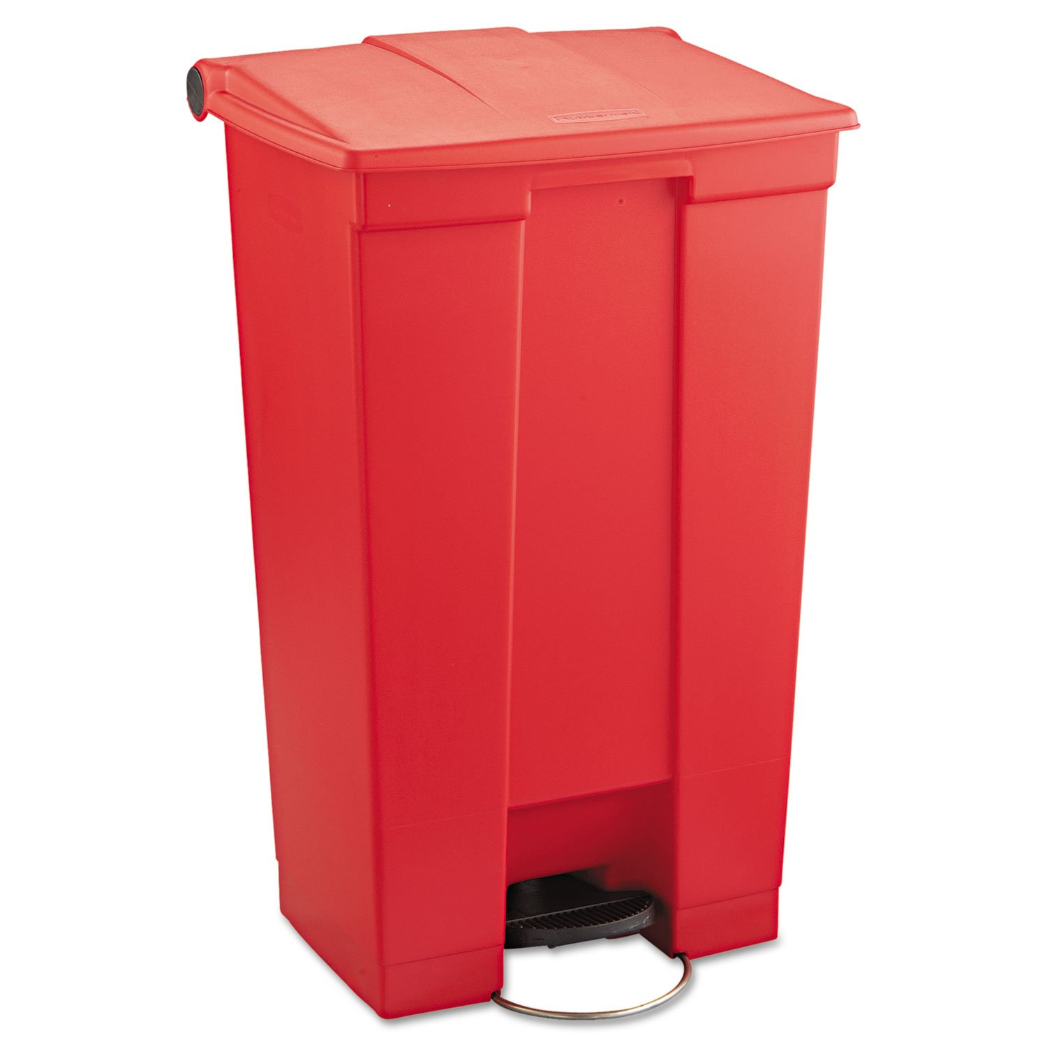Rubbermaid Commercial Medical Waste Front Step-On Trash Can, 23 Gallon, Red, FG614600RED