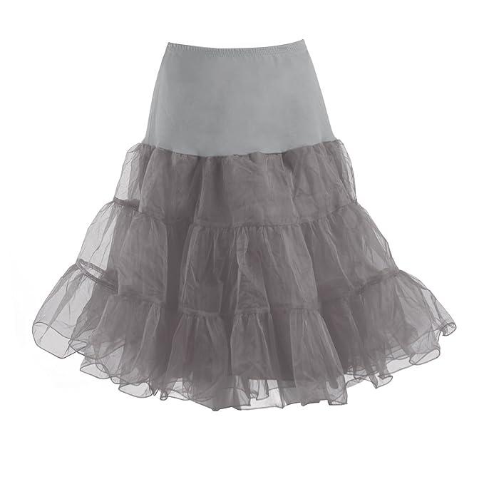3ca4b484b3 HDE Women's Petticoat Vintage Slip Rockabilly Swing Dress Underskirt Tutu  Skirt at Amazon Women's Clothing store:
