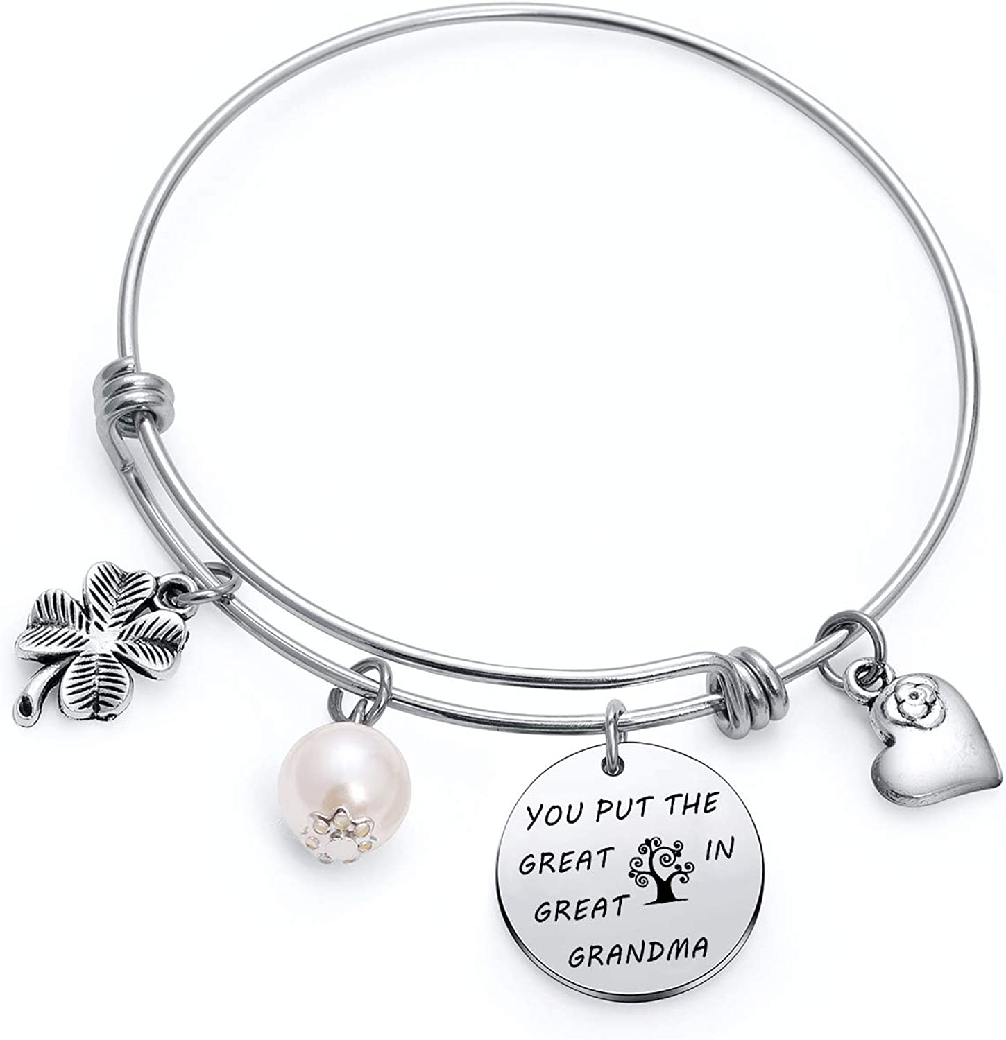 Birthstones Bangle Personalized I love you to the moon and back Mothers Gift Gifts for Grandma Grandmother Bracelet Grandma Bracelet
