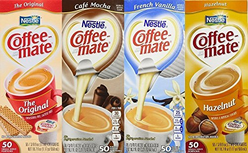 Liquid Creamer Cups - Coffee Mate Liquid .375oz Variety Pack (4 Flavors) 200 Count