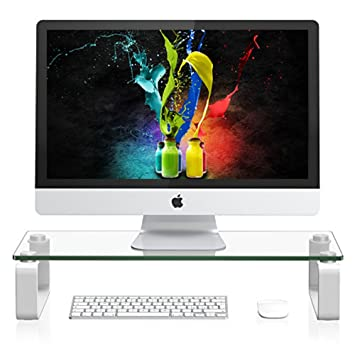 Amazoncom Monitor Stand Riser For iMac and Desktop Computer