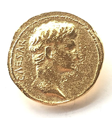 Reproduction Roman Aureus Coin Pin Badge with Gift Pouch ()