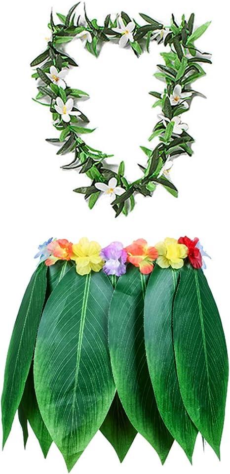 Reyoust Falda Hawaiana de Hoja Hula para niños, Falda de césped ...