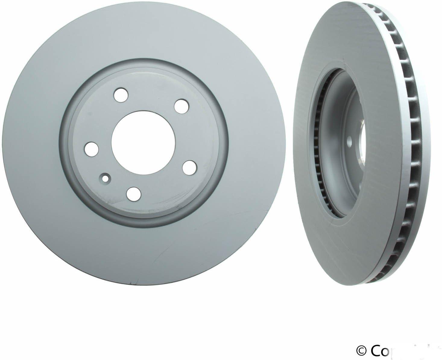 2013 Audi Q5 Coated Disc Brake Rotors and Ceramic Pads Rear