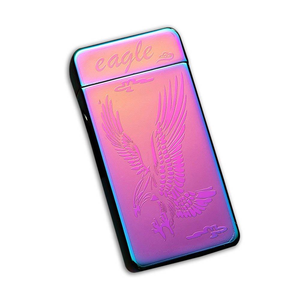 Sunshine USB Lighter Dual Arcs Flameless Windproof Wider Arcs Plasma Beam Dual Arc Lighter USB cable included (Rainbow Eagle) by Sunshine (Image #2)