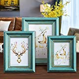 MUAMAX Antique Teal 5x7 Picture Frames Set of 2