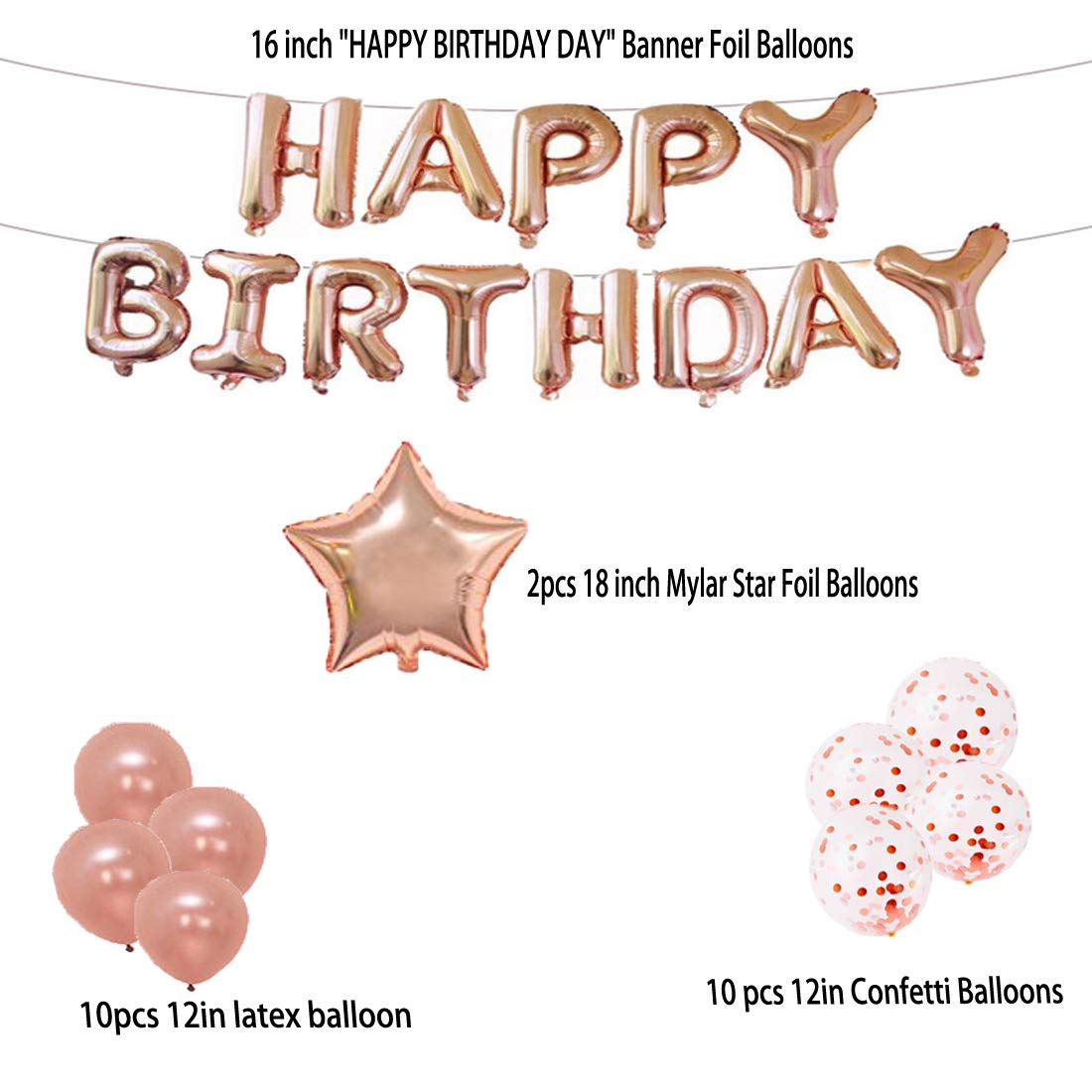 13th Birthday Decorations Party Supplies Balloons Rose Gold Number 13 Mylar Balloon
