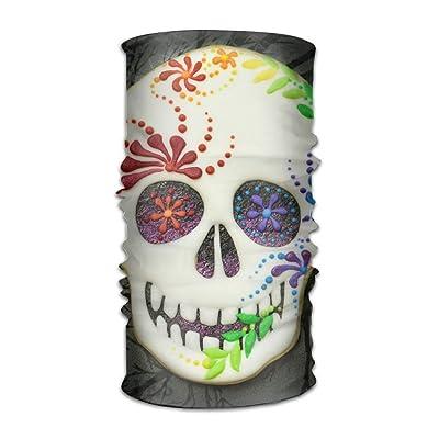 K-Dark 16 In 1 Seamless Scarf Sugar Skull Outdoor Multifunctional Headband,Womens And Mens Headscarves With UV Resistance, Emergency Bandage