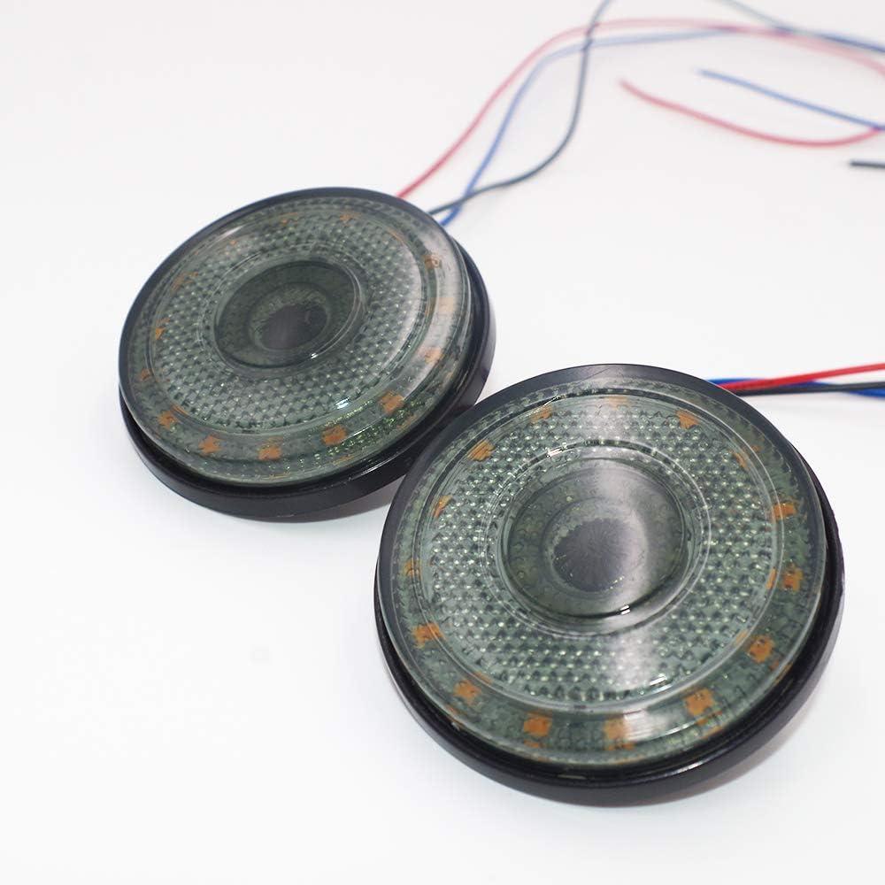 gelb Ricoy 4 St/ücke 2,3 24 LED 12 V Runde seitenmarker Blinker Bremse Flash Warnung Gelb und Rot Licht