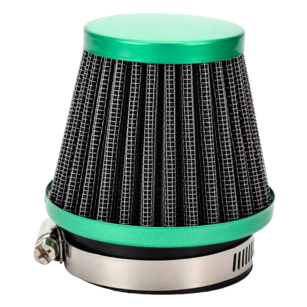 HIAORS 48mm to 50mm Air Intake Filter Cleaner for Honda CB 250 Yamaha DT250 DT250MX Suzuki GS250 GS250T Kawasaki Ninja 250 300 Sport Motorcycle ATV Scooters Moped Red